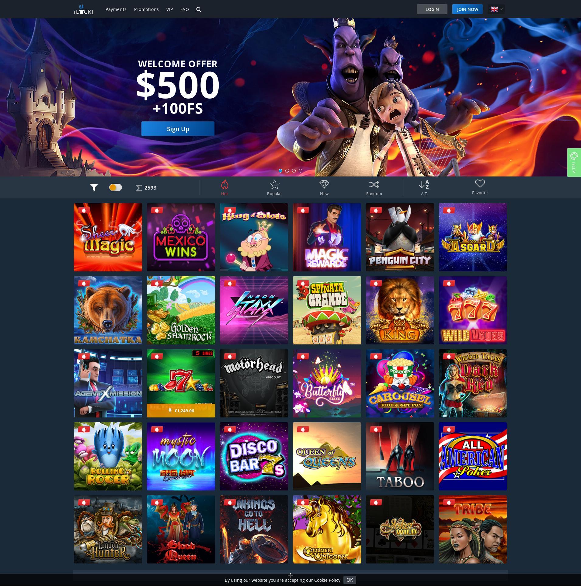 カジノのスクリーン Lobby 2019-10-20 ために 日本